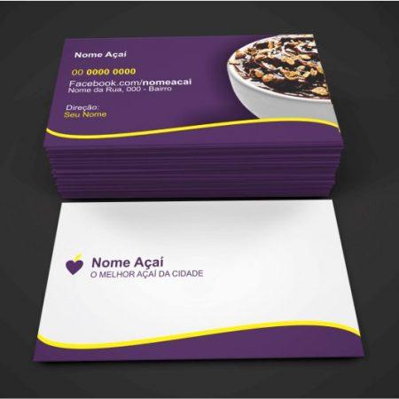 Cartão de Visita Açaí - Modelo 02