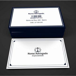 Cartão de Visita Advogado - Modelo 01