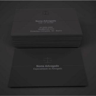 Cartão de Visita Advogado - Modelo 04