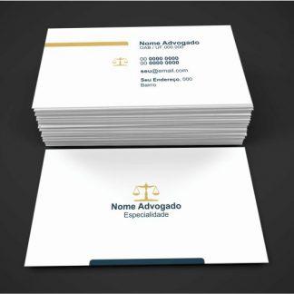 Cartão de Visita Advogado - Modelo 06