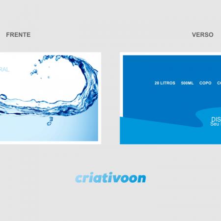 Cartão de Visita Água Mineral - Modelo 02