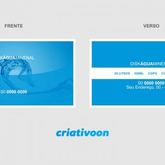 Cartão de Visita Água Mineral - Modelo 01