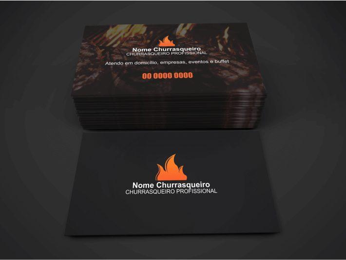 Cartão de Visita Churrasqueiro - Modelo 02