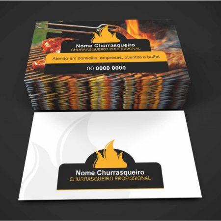 Cartão de visita churrasqueiro - Modelo 01