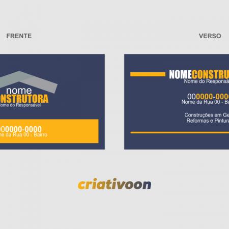 Cartão de Visita Construtora - Modelo 01