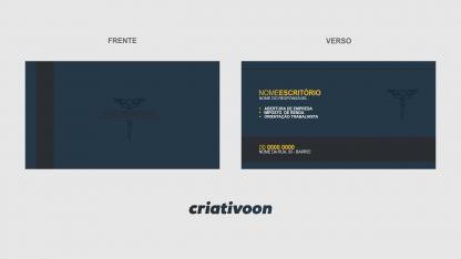 cartão de Visita Contabilidade - Modelo 01
