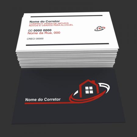 Cartão de Visita Corretor de Imóveis - Modelo 03