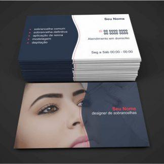 cartão de visita designer de sobrancelhas - Modelo 02