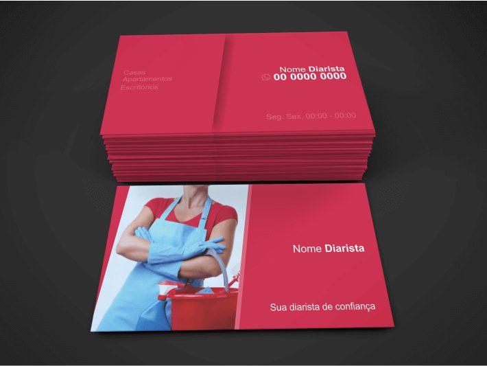 Cartão de Visita Diarista - Modelo 03