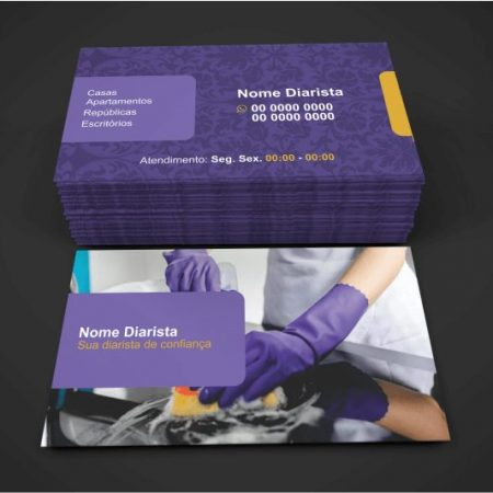 Cartão de Visita Diarista - Modelo 02