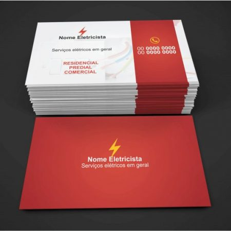 Cartão de Visita Eletricista - Modelo 02