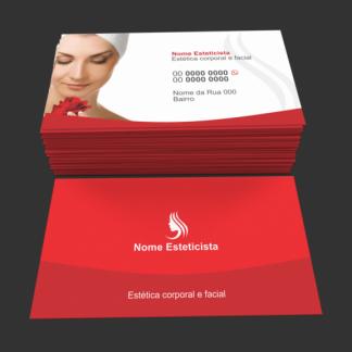 Cartão de Visita Estética - Modelo 02