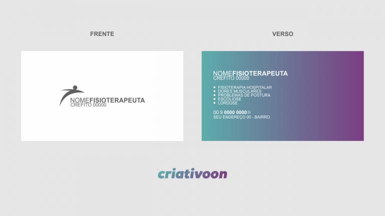 Cartão de Visita Fisioterapeuta - Modelo 01