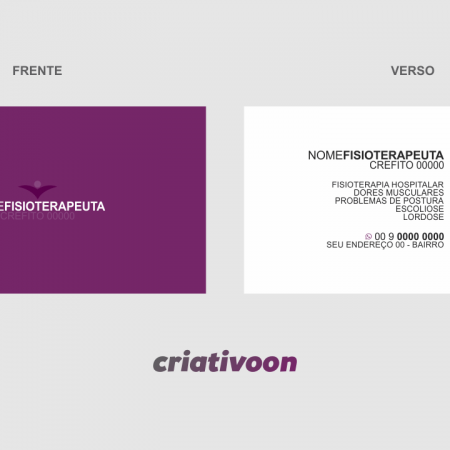 Cartão de Visita Fisioterapeuta - Modelo 02