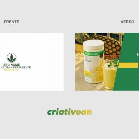 Cartão de Visita Herbalife - modelo 01