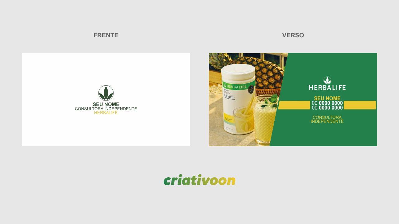 Cartão de Visita Herbalife modelo 01