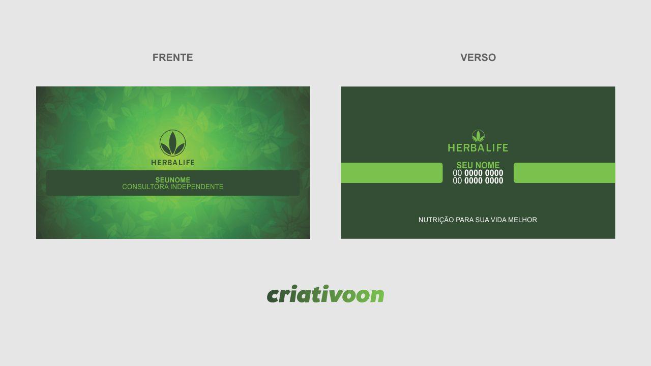 Cartão de Visita Herbalife - Modelo 02