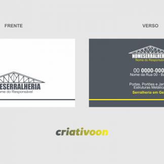 cartão de visita serralheria - modelo 01