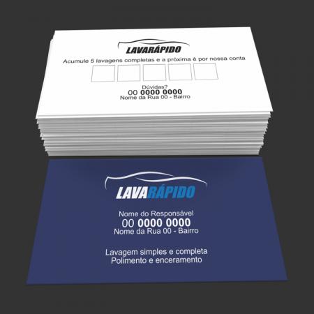 cartão de visita lava rápido - modelo 03