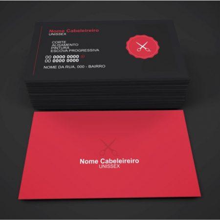 cartão de visita cabeleireiro - modelo 01