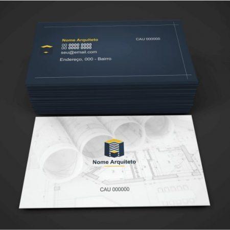 cartão de visita arquiteto - modelo 02