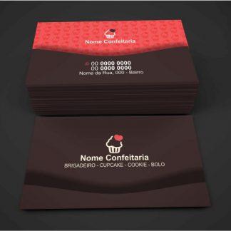 cartão de visita confeitaria - modelo 03