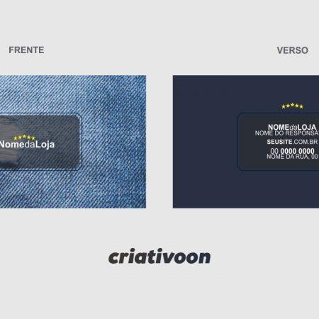 modelo cartão de visita loja de roupas - modelo 02