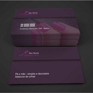 cartão de visita manicure - modelo 01