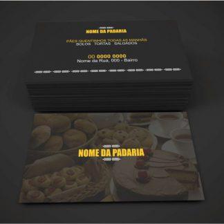 cartão de visita padaria - modelo 01