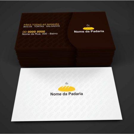 cartão de visita padaria - modelo 02
