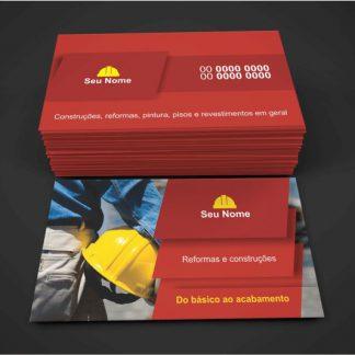 cartão de visita pedreiro - modelo 02