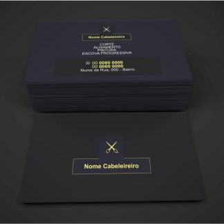 cartão de visita cabeleireiro - modelo 04
