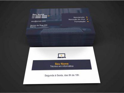Cartão De Visita Técnico Em Informatica Modelo 01