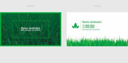 cartões de visita jardineiro - modelo 01