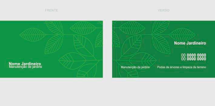 cartão de visita jardineiro - modelo 02
