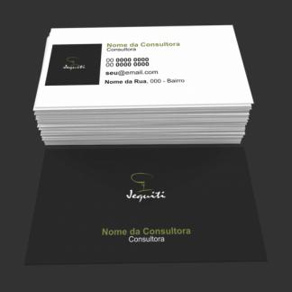 cartão de visita jequiti - modelo 02