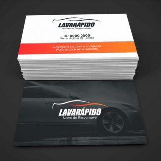 cartão de visita lava rápido - modelo 01
