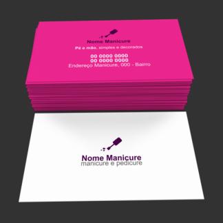 cartão de visita manicure - modelo 03