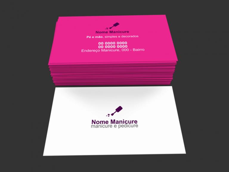 Cartão De Visita Manicure Modelo 04