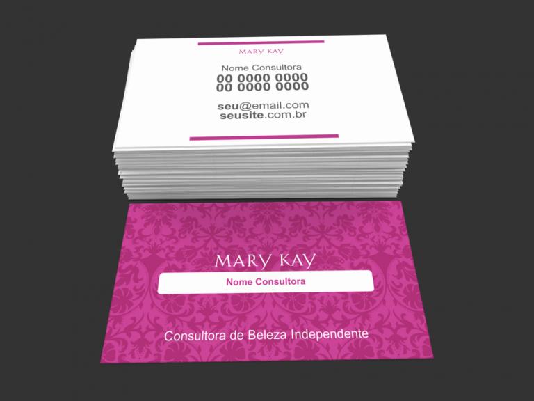 cartão de visita mary kay - modelo 04