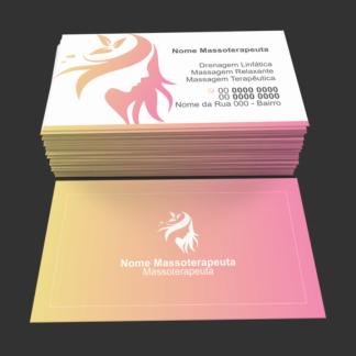 cartão de visita massoterapia - modelo 01