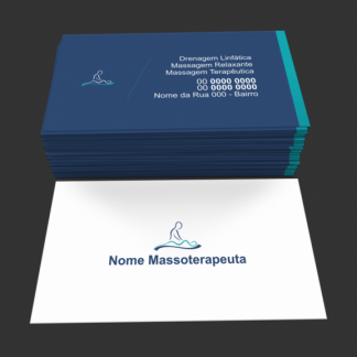 cartão de visita massoterapia - modelo 02