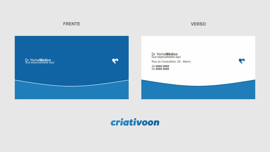 Cartão de visita medico - modelo 01