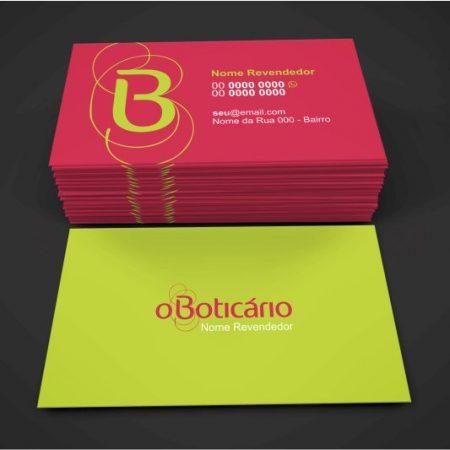 cartão de visita o boticario - modelo 01