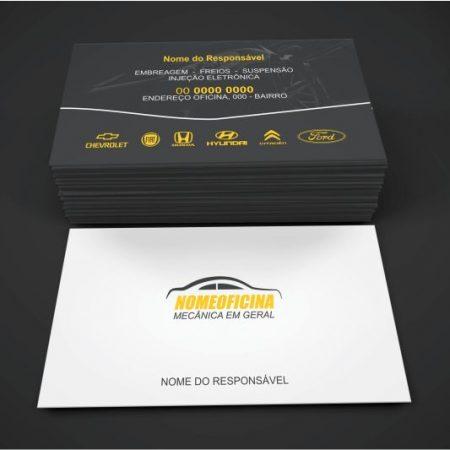 cartão de visita mecânico - modelo 01