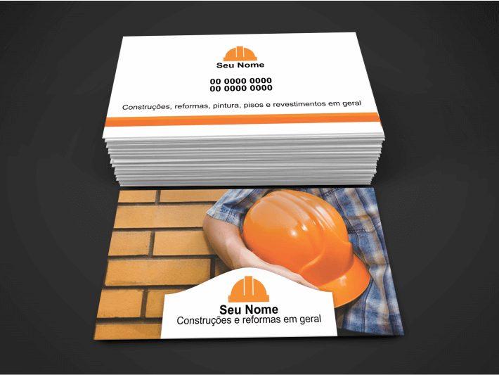 cartão de visita pedreiro - modelo 01