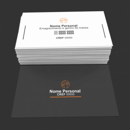 cartão de visita personal trainer - modelo 01