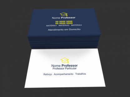cartão de visita Professor particular - modelo 01