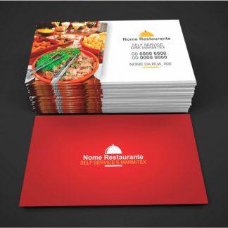 Cartões restaurante e marmitex