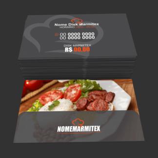 Cartões restaurante e marmitex - modelo 02